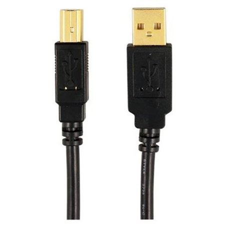 2.0 USB A-Male to B-Male Cable (6 ft) i? Use with any USB peripheral device i? Connect directly to computer or to hub i? Meets or exceeds 2.0 standard i? Gold-plated