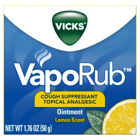 Vicks VapoRub Lemon Scented Cough Suppressant Topical Analgesic Ointment 1.76 oz