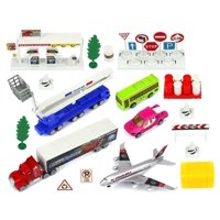 Urban City Sport Metal Children's Kid's Toy Vehicle Playset w/ Variety of Vehicles, Accessories