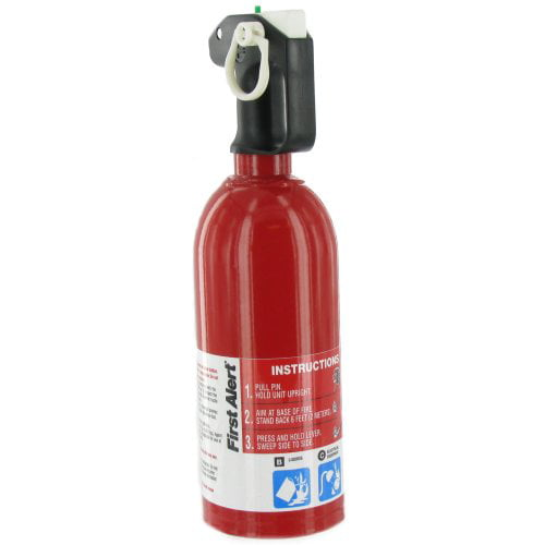 Automotive Fire Extinguisher >> Brk Electronics Auto5 Fire Extinguisher First Alert R Dry Chemical Agent Steel Red With Mounting Bracket