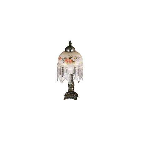 Fringe Mini Lamp - Rose Bouquet Fringed Mini Table Lamp