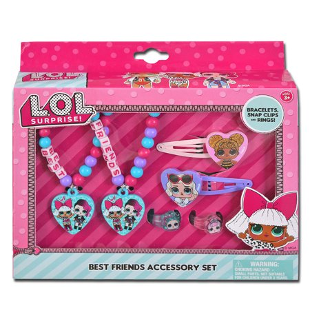 LOL Surprise Best Friends Accessory Set with Bracelets and More - Featuring Queen Bee, Diva and