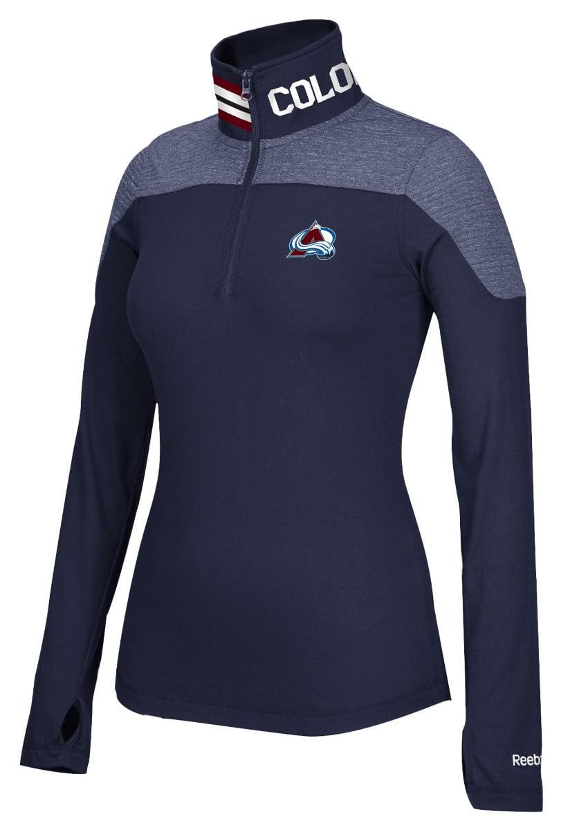 Colorado Avalanche Women's NHL Reebok 1 4 Zip Performance Pullover Jacket by Reebok