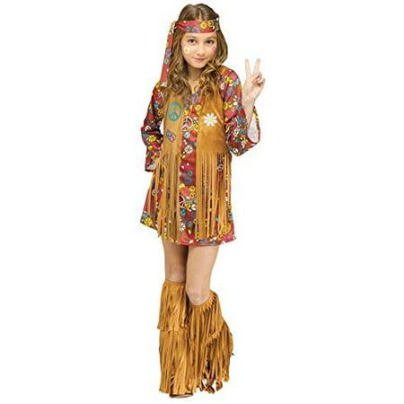 Peace And Love Hippie Costume (Child Peace & Love Hippie Costume Medium)