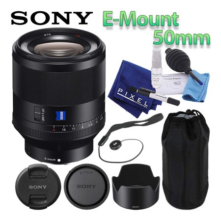 Sony Planar T FE 50mm f/1.4 ZA Lens Mirrorless E-Mount Best Value Bundle Includes Professional Lens Cleaning Kit, Lens Cap Keeper, Manufacturer Included Accessories, and