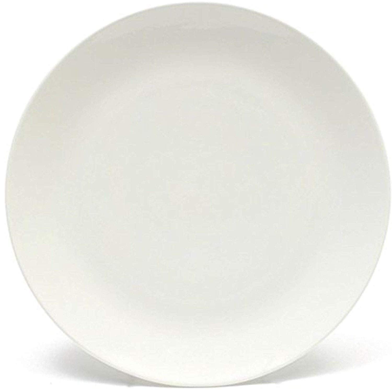 Melange Coupe 24 Piece Porcelain Dinner Plate White Color Microwave Dishwasher And Oven Safe Walmart Com Walmart Com