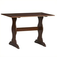 Pemberly Row Kitchen Dining Nook Dining Table in Walnut