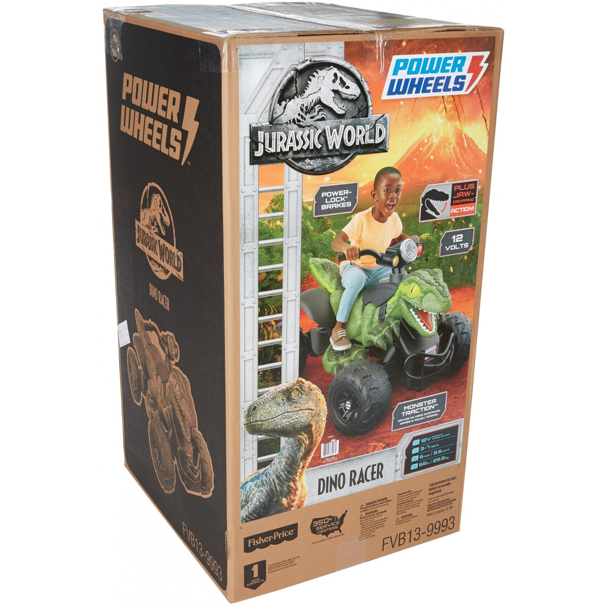 Power Wheels Jurassic World Dino Racer Green Ride On Atv For Kids Smart Car Parts