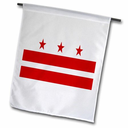 Garden District Metal (3dRose Image of District of Columbia Polyester 1'6'' x 1' Garden Flag )