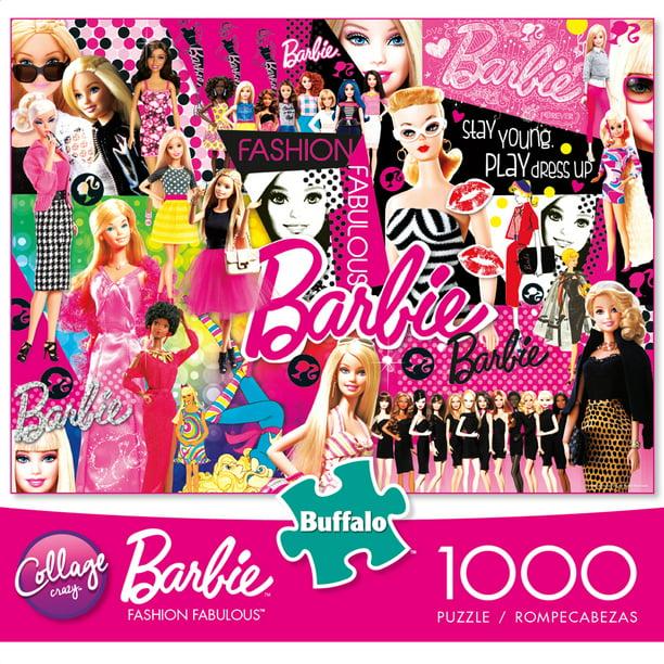 Buffalo Games 1000 Piece Puzzle Collage Crazy Fashion Fabulous Barbie Walmart Com Walmart Com