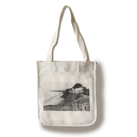 California - Southern Pacific Daylight Train along the Pacific Coast (100% Cotton Tote Bag - Reusable)