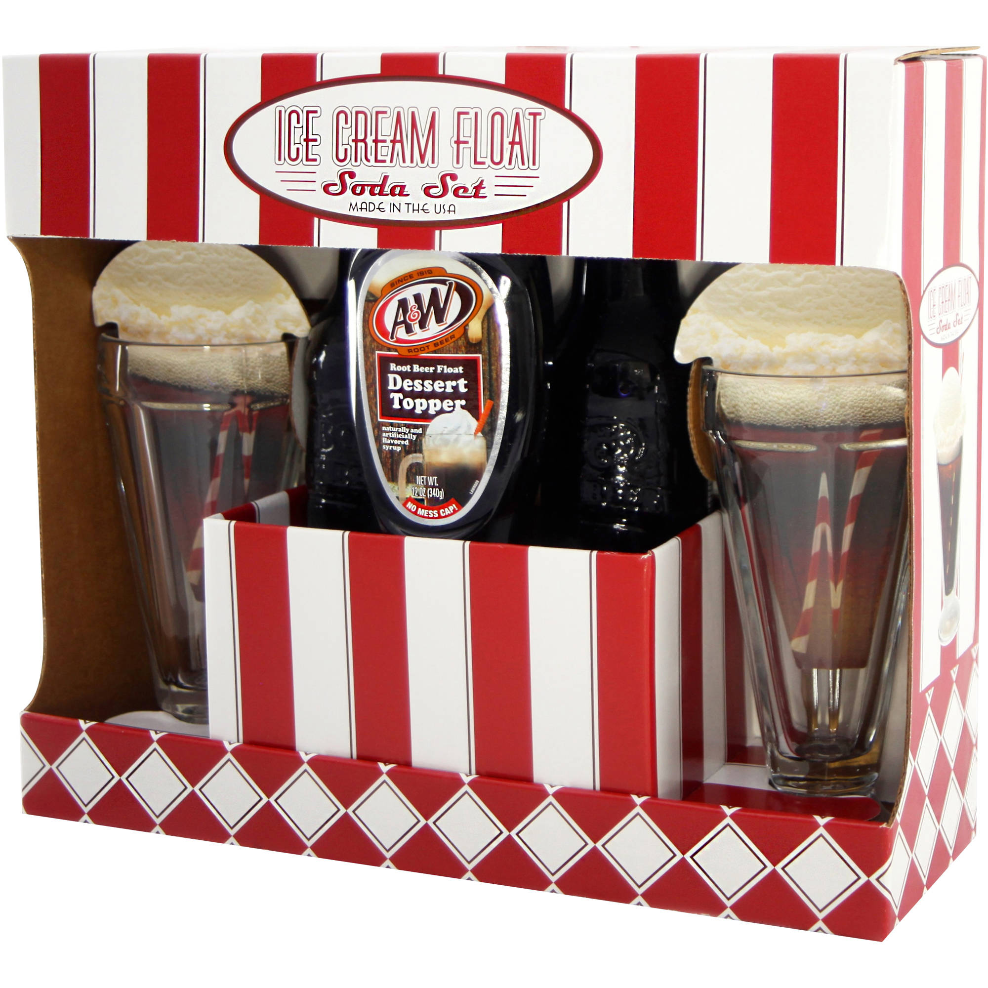 A&W Root Beer Ice Cream Float Soda Holiday Gift Set, 5 pc - Walmart.com