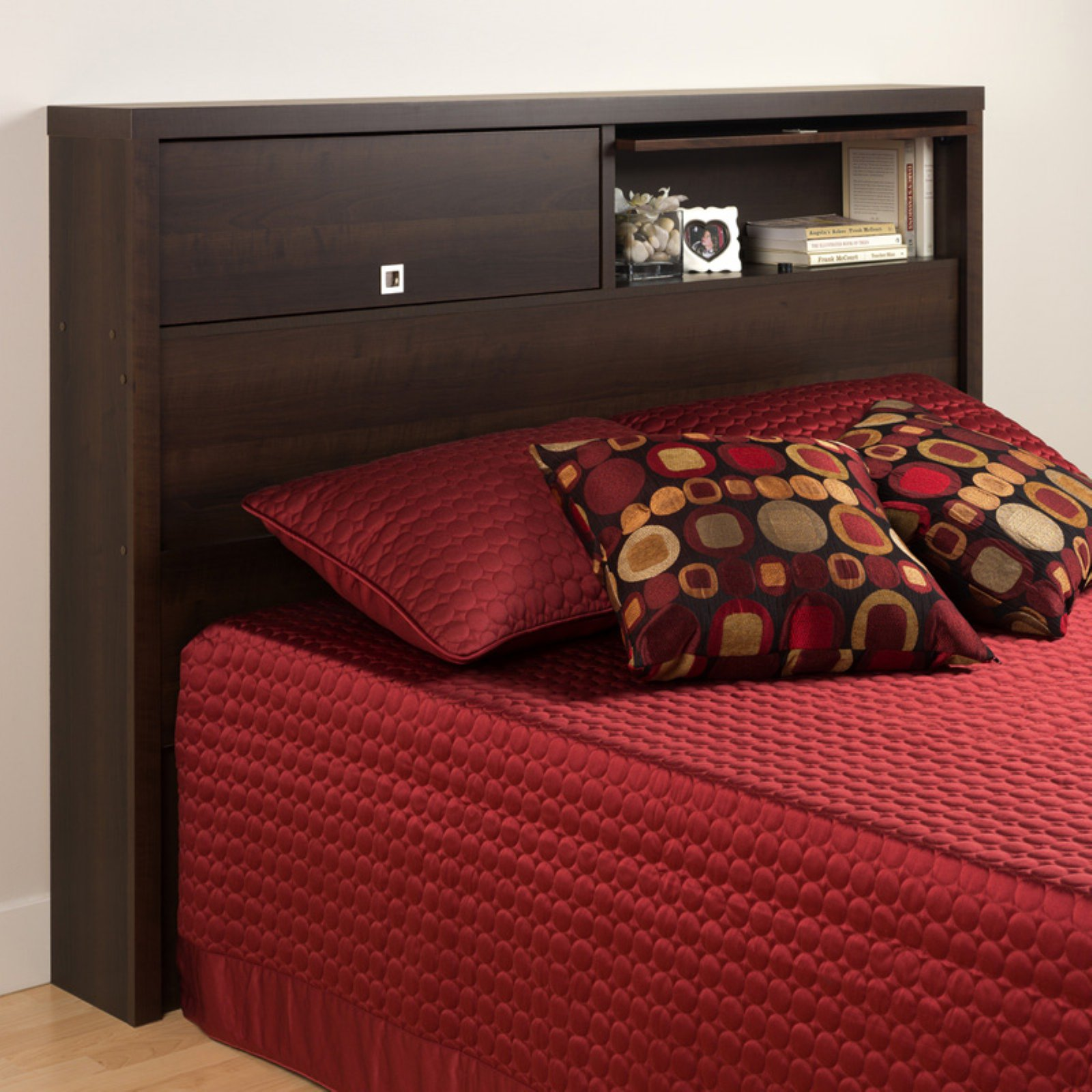 Espresso Series 9 Designer Full/Queen Headboard, 2-Door