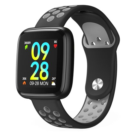 Fitness Tracker, IP68 Waterproof Activity Tracker with Heart Rate Monitor Bluetooth Multiple Sport Modes Smart Watch Wireless Smart Bracelet Sleep Monitor Pedometer Wristband for Men Women
