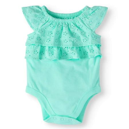 91043ddb5 Garanimals - Baby Girls' Eyelet Ruffle Bodysuit - Walmart.com