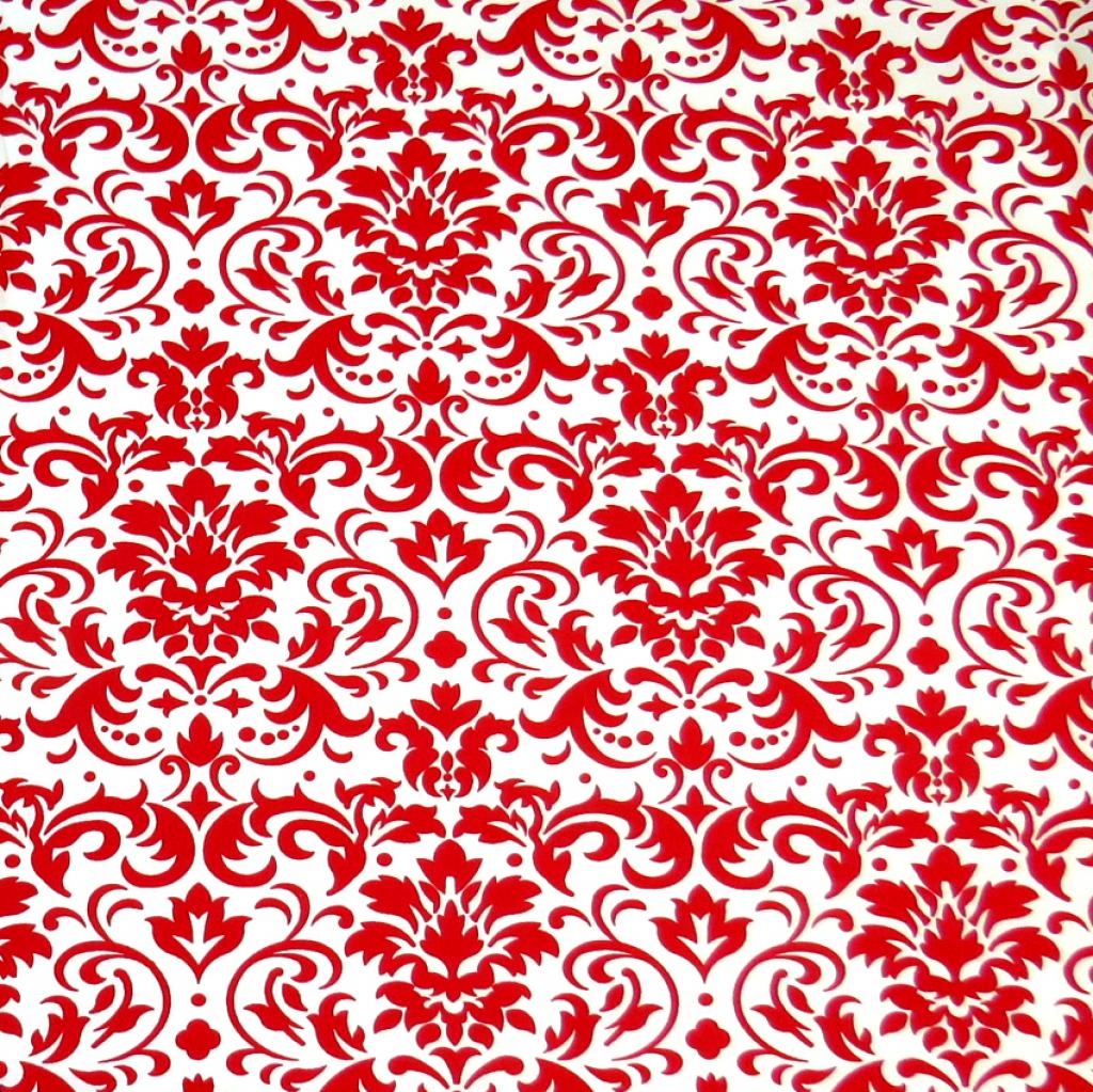 SheetWorld Fitted Crib / Toddler Sheet - Red Damask