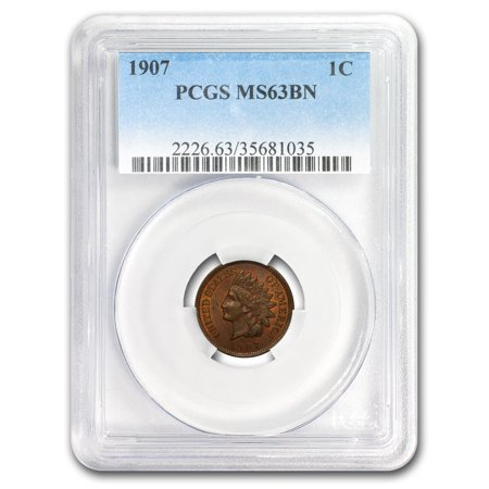 1907 Indian Head Cent MS-63 PCGS (Brown)