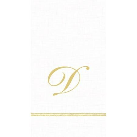Monogram Initial D Paper Guest Napkins 15pk (Monogramed Napkins)