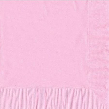 50 Plain Solid Colors Luncheon Dinner Napkins Paper - Pink