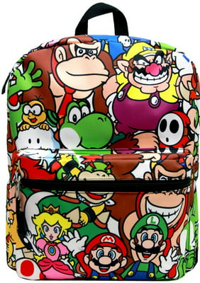 Medium Backpack - Nintendo - Super Mario All-Over Group NN35385