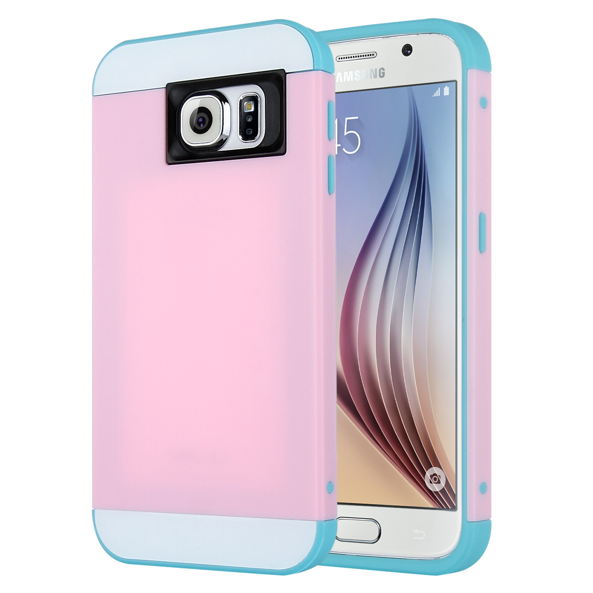 ULAK Galaxy S6 Case, S6 Case, 2in1 Hybrid Dual Layer Slim Protective Case Cover for Samsung Galaxy S6 (Plastic Hard Shell and Flexible TPU)