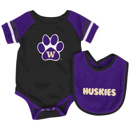 Washington Set - Infant NCAA Washington Huskies Roll-out Bodysuit and Bib Set