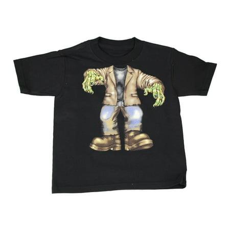 Little Boys Black Zombie Halloween Short Sleeve T-Shirt - Balis Park Halloween
