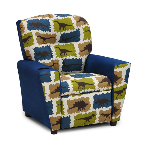 Kidz World Mixy Kids Suede Recliner with Cup Holder
