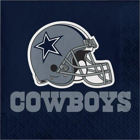 Creative Converting Dallas Cowboys Napkins, 16 ct (Cowboy Napkins)