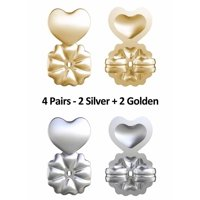 b31e01a70 Product Image Earring Lifts 4 Pair Gold & Silver Magic Earring Back Support  Stop Earring Droop or Sag