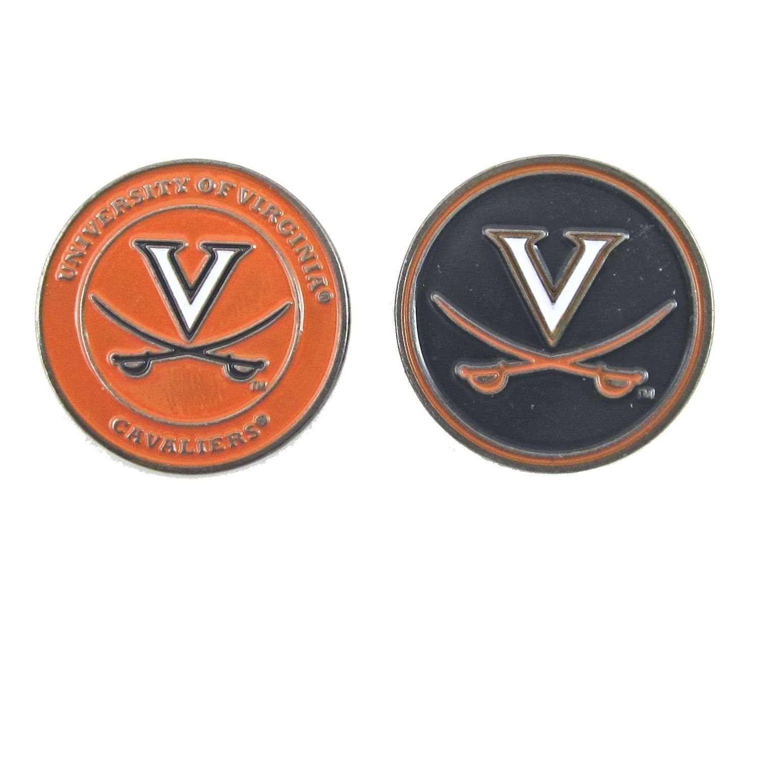 Virginia Cavaliers UVA Double Sided Golf Ball Marker, UVA Cavaliers Ball Marker By Waggle Pro Shop,USA