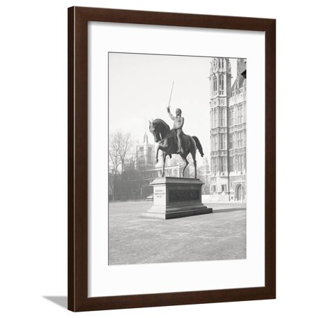 Richard The Lionhearted (Statue of Richard the Lionhearted Framed Print Wall Art By Philip)