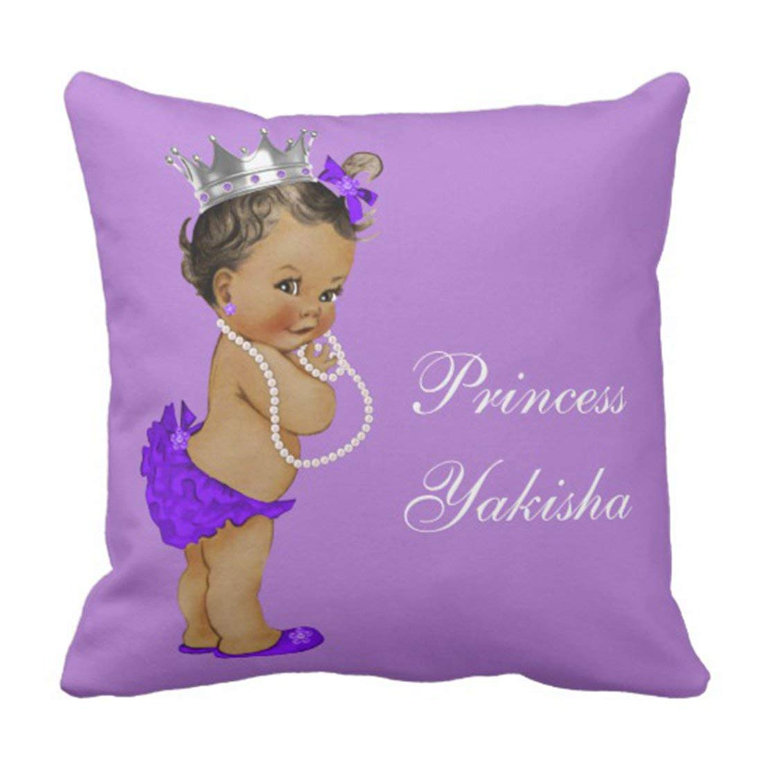BPBOP Silver African Purple Vintage Ethnic Princess Cute Showers Pillowcase Cushion Cover 18x18 inches