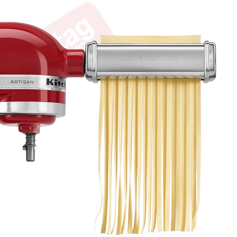 Kitchenaid 3 Piece Pasta Roller Cutter Attachment Set Silver