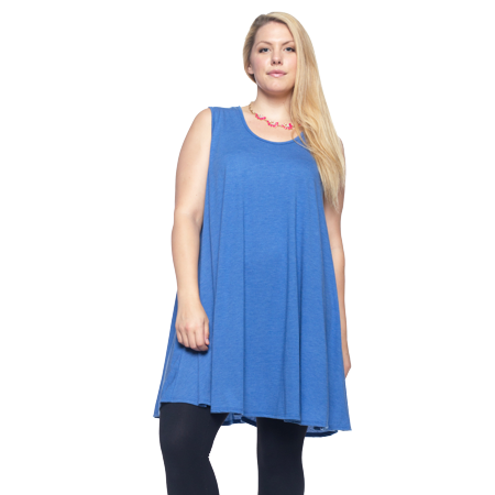Plus Size 4x (Women's Plus Size Scoop Neck Tank Top Made in USA 1X 2X 3X)