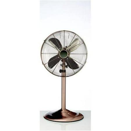 16 Inch Metal Floor Standing Fan w/Adjustable Height - Copper