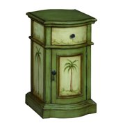 """One Drawer One Door Cabinet H25.00"""", Largo Green and Cream"""
