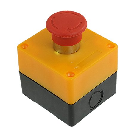 1 NC N/C Red Sign Mushroom Emergency Stop Switch Station Twist Release 10A 600V thumbnail