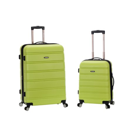 Melbourne 2 Piece Hardside Spinner Luggage (Md Silver Shell)