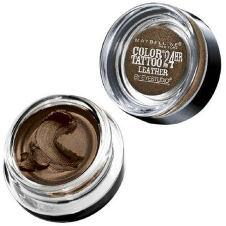 Maybelline New York Color Tattoo 24Hr Leather by EyeStudio Cream Gel Eyeshadow, Chocolate Suede 0.14 oz