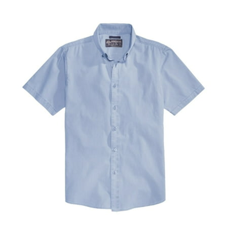 American Rag NEW Blue Mens Size Small S Button Down Short-Sleeve Shirt