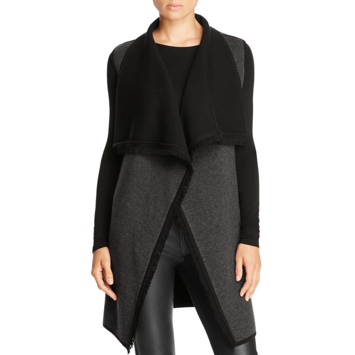 Magaschoni Womens Wool Fringe Sweater Vest by Womens Wool Coats