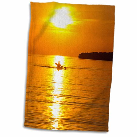 3dRose Kayak, Apostle Islands, Lake Superior, Wisconsin, USA - US50 CHA0063 - Chuck Haney - Towel, 15 by (Best Lakes To Kayak In Wisconsin)