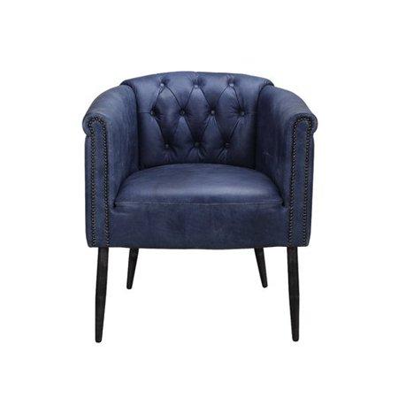 brayden studio henault leather barrel chair walmart com