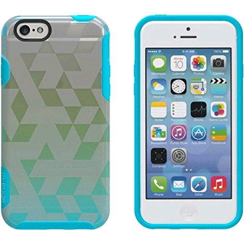 M-Edge Glimpse Case Cover for Apple iPhone 6 / iPhone 6s (Tri-Party Aqua/Lime)