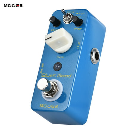 MOOER Blue Mood Blues Style Overdrive Guitar Effect Pedal 2 Modes(Bright/Fat) True Bypass Full Metal