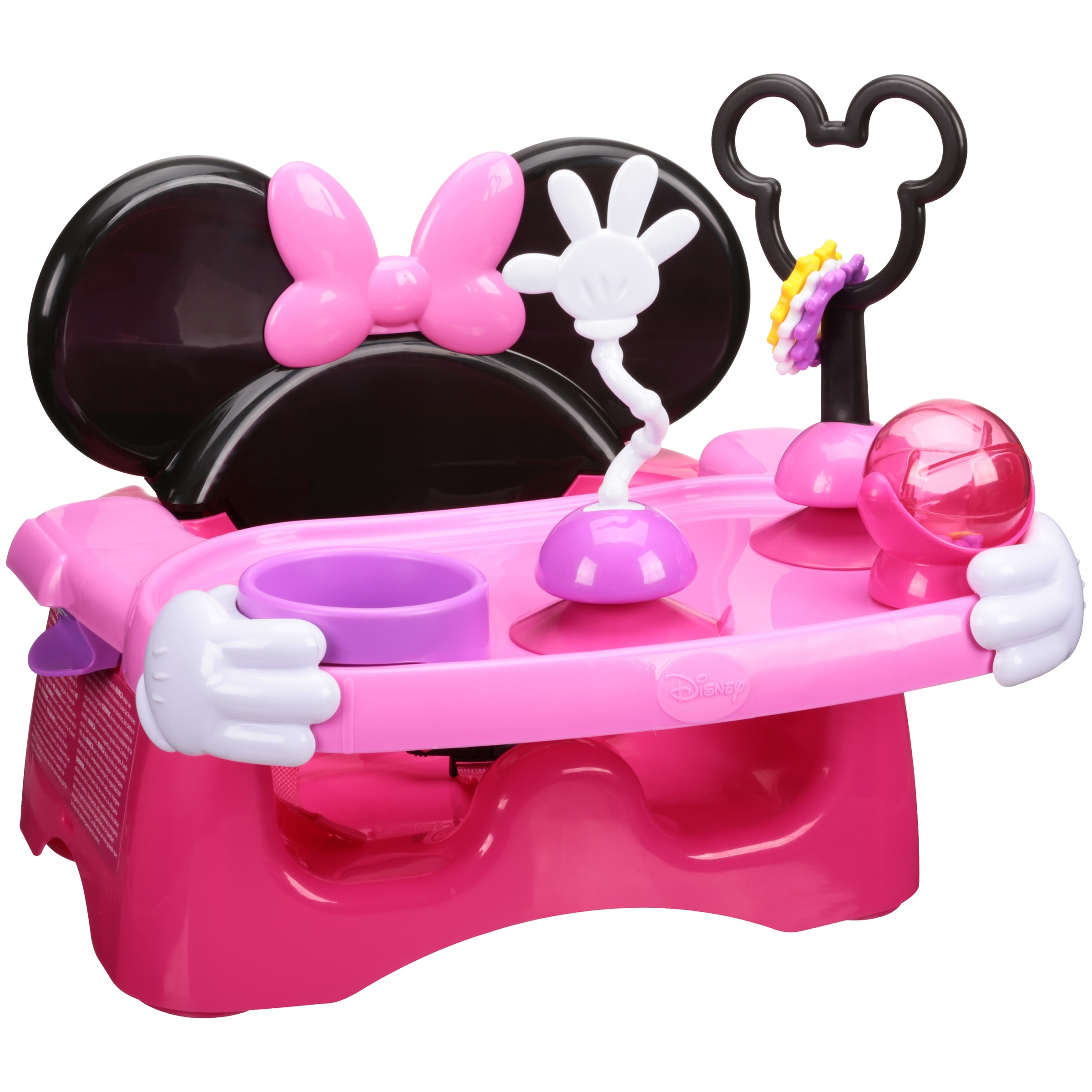 The First Years Disney Minnie Mouse Helping Hands Feeding & Activity Set Hair Chair 7 pc Box