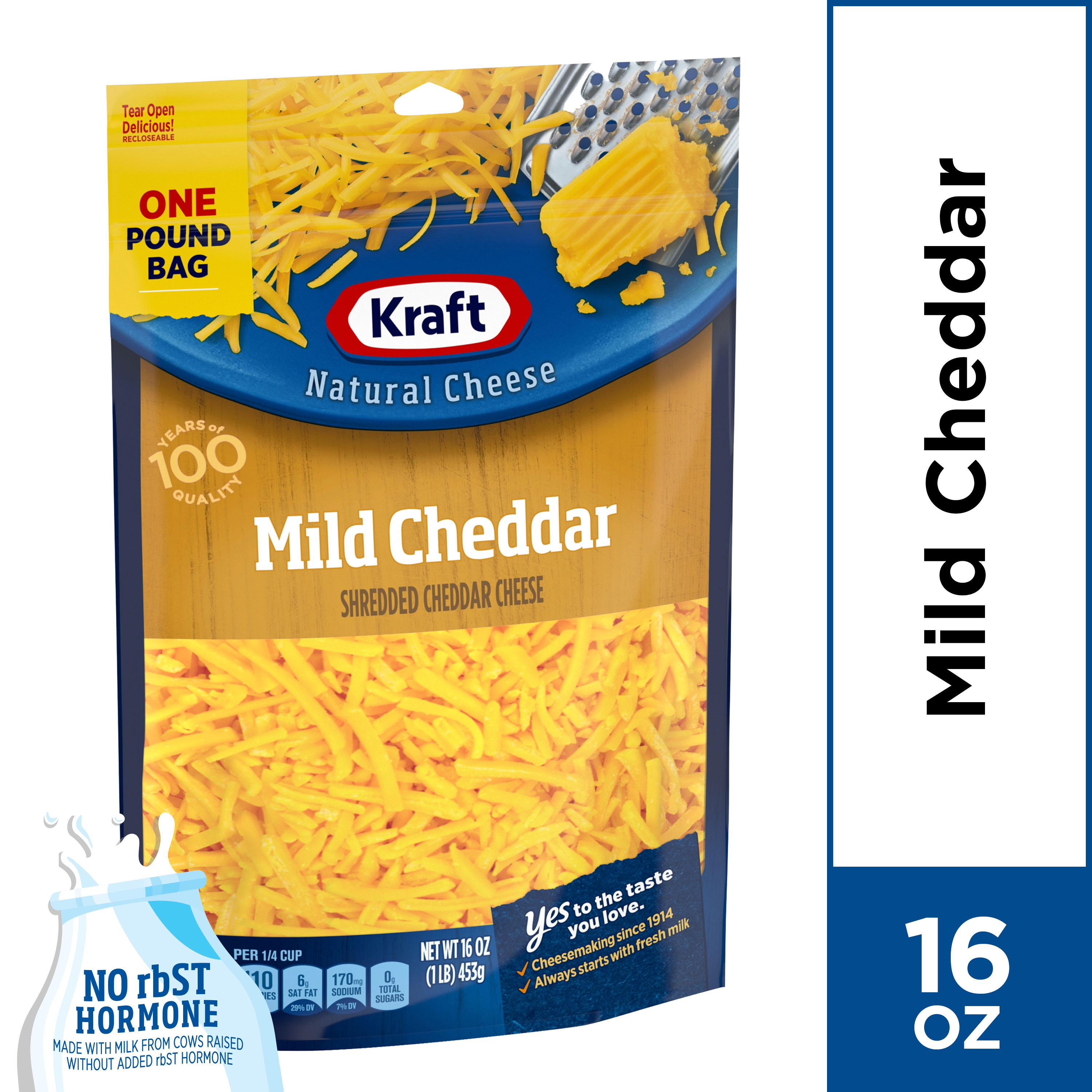 Kraft Mild Cheddar Shredded Natural Cheese 16 oz Pouch
