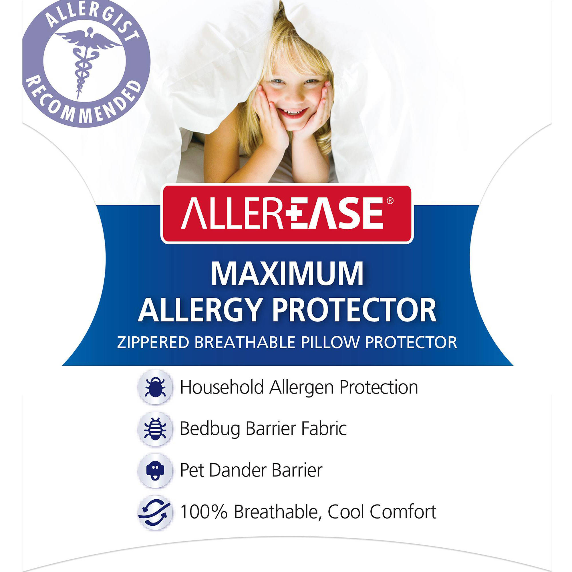 Click here to buy AllerEase Maximum S Q Pillow Cover by American Textile Company.