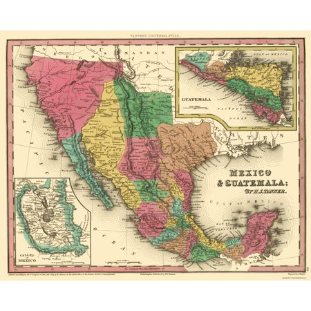 Old North America Map.Old North America Map Mexico And Guatemala Tanner 1834 23 X